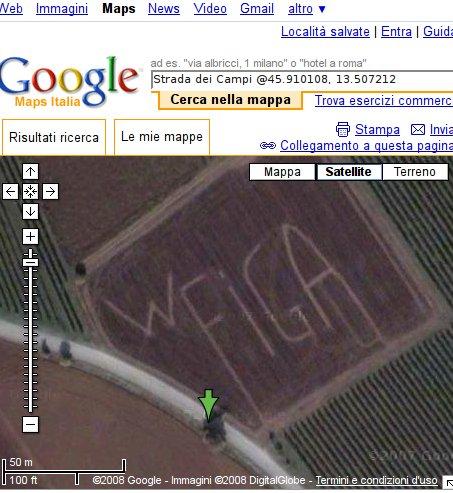 schermata GoogleMappe
