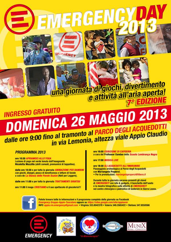locandina Emergency Day 2013