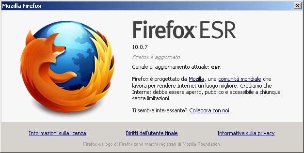 Firefox 10.0.7esr