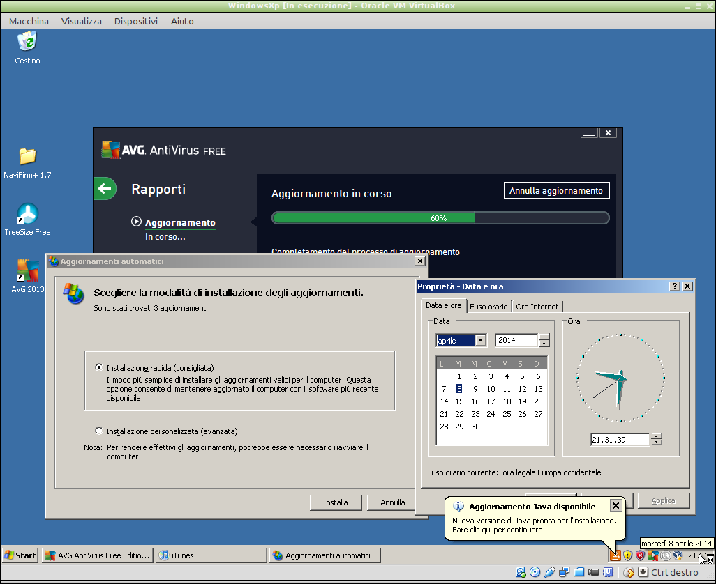 ultimo aggiornamento per Windows xp