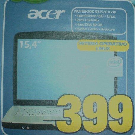 un portatile in vendita con Linux!!
