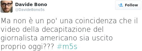 il tweet di Davide Bono